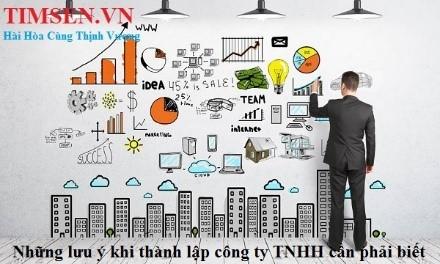 Các lưu ý về cách thành lập công ty TNHH