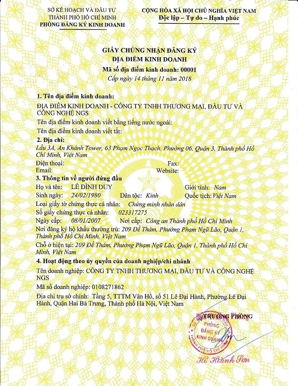 mau giay phep dang ky kinh doanh 13 - Mẫu giấy phép đăng ký kinh doanh cho các loại hình doanh nghiệp mới nhất 2020