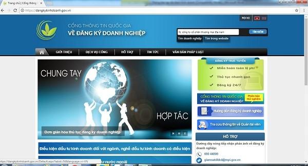 Cổng thông tin quốc gia về đăng ký doanh nghiệp