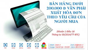 Ban ahng duoi 200.000 300x169 - TRƯỜNG HỢP BÁN HÀNG KHÔNG BẮT BUỘC PHẢI LẬP HÓA ĐƠN